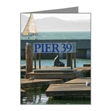 Sea lion at Pier 39, San Fra Note Cards (Pk of 20)
