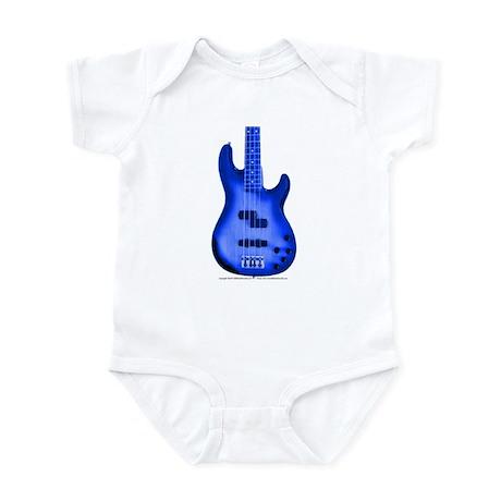 """BrightBlue"" Bass Guitar Infant Bodysuit"