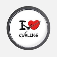 I love curling  Wall Clock