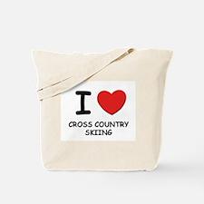 I love cross country skiing Tote Bag