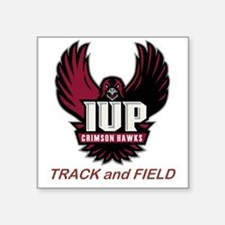 "IUP TF Maroon Logo Square Sticker 3"" x 3"""