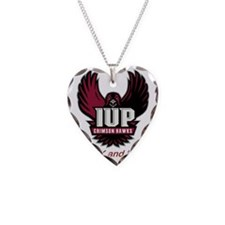 IUP TF Maroon Logo Necklace