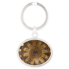 ascension dome in st. mark's basilic Oval Keychain