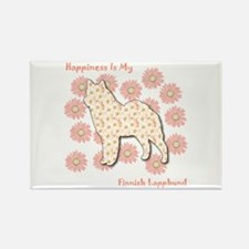 Lapphund Happiness Rectangle Magnet