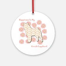 Lapphund Happiness Ornament (Round)