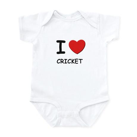 I love cricket Infant Bodysuit