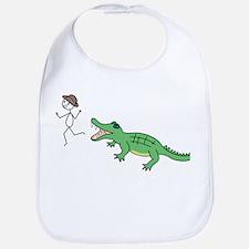 Alligator Chase Bib