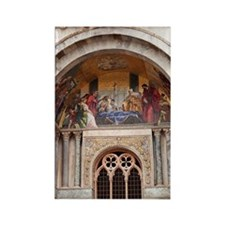 basilica di san marco with mosaic Rectangle Magnet