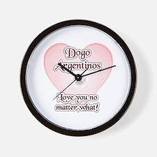Dogo Love U Wall Clock