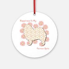 Spitz Happiness Ornament (Round)