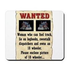 Woman Wanted Mousepad