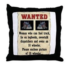 Woman Wanted Throw Pillow