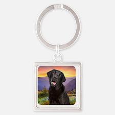 Labrador Meadow Square Keychain