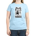 Obey the Yorkie! Women's Pink T-Shirt