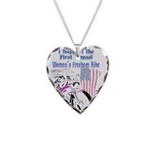 Support the Women's Freedom R Necklace