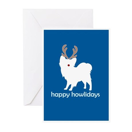 """Papillon """"Happy Howlidays"""" Greeting Cards (Package"""
