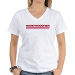 Honeymooner Hearts Women's V-Neck T-Shirt