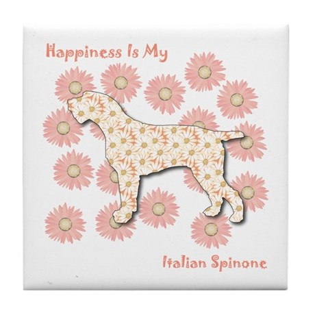 Spinone Happiness Tile Coaster