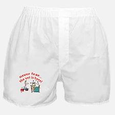 vet is here Boxer Shorts