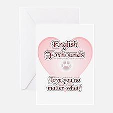 English Fox Love U Greeting Cards (Pk of 10)