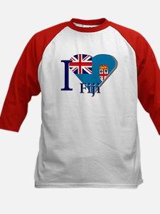 I love Fiji Kids Baseball Jersey
