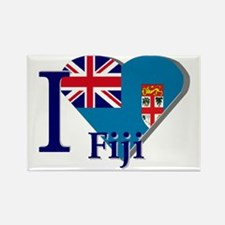 I love Fiji Rectangle Magnet