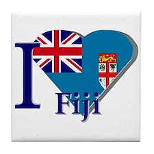 I love Fiji Tile Coaster