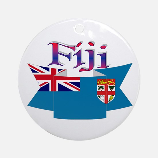Fiji flag ribbon Ornament (Round)