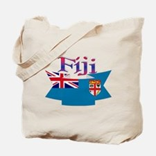 Fiji flag ribbon Tote Bag
