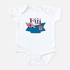 Fiji flag ribbon Infant Bodysuit