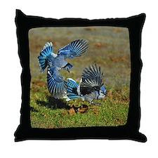 2 Blue Jays Throw Pillow