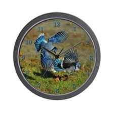 2 Blue Jays Wall Clock