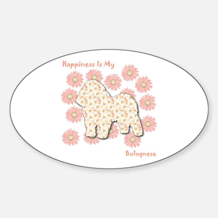 Bolognese Happiness Oval Decal