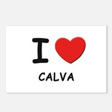 I love calva  Postcards (Package of 8)