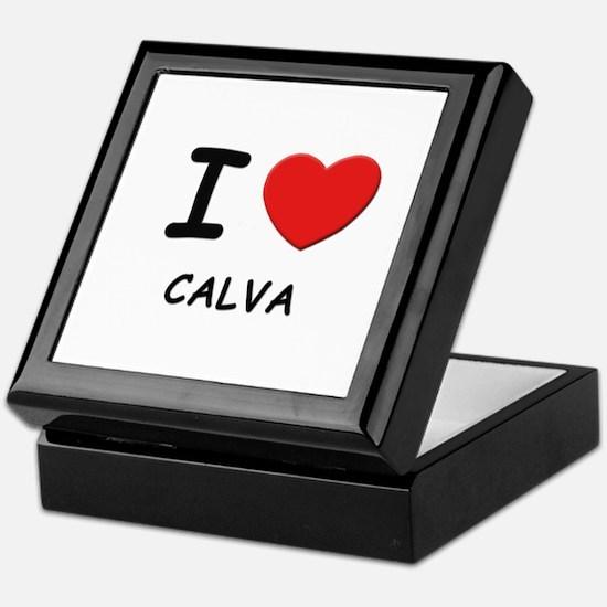I love calva Keepsake Box