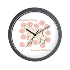 Caucasian Happiness Wall Clock