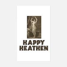Happy Heathen Rectangle Decal
