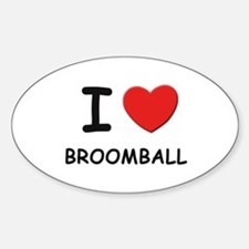 I love broomball Oval Decal