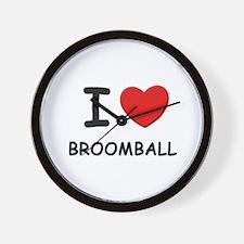 I love broomball  Wall Clock