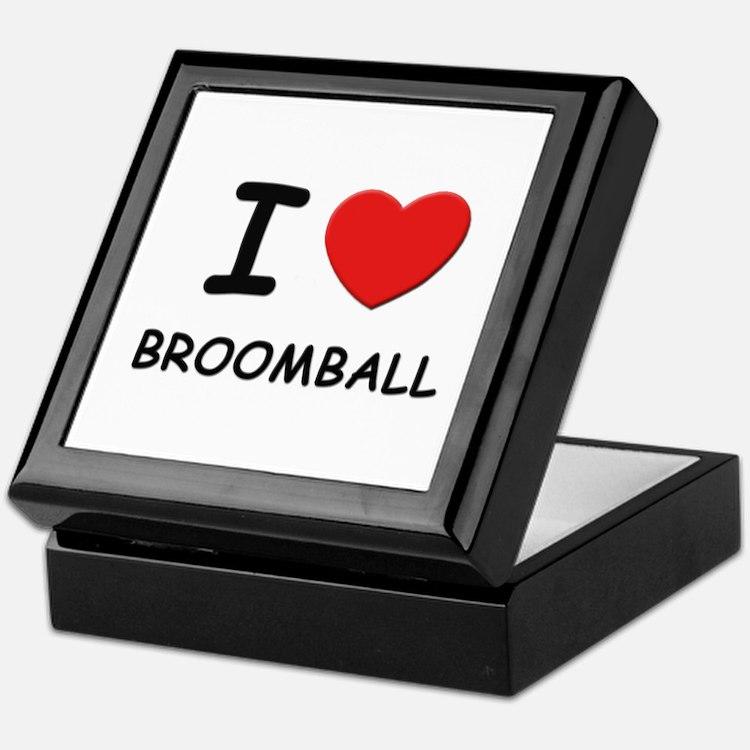 I love broomball Keepsake Box