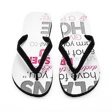 Jeremiah 29-11 Plans to prosper Flip Flops