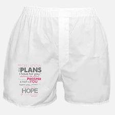 Jeremiah 29-11 Plans to prosper Boxer Shorts