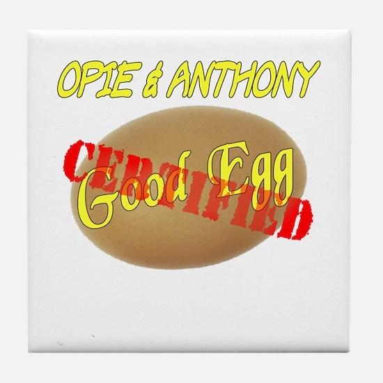 Stamped Good Egg Tile Coaster