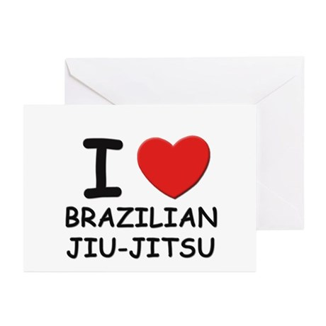 I love brazilian jiu-jitsu Greeting Cards (Packag