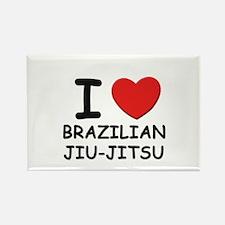 I love brazilian jiu-jitsu Rectangle Magnet