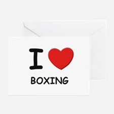 I love boxing  Greeting Cards (Pk of 10)