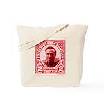 Bukowski 2 Cents US Postal Red Tote Bag