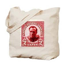 Bukowski 2 Cents US Postal Red Tote Bag