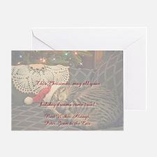 Santadaisy cardinsidesigned Greeting Card