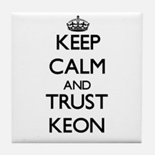 Keep Calm and TRUST Keon Tile Coaster